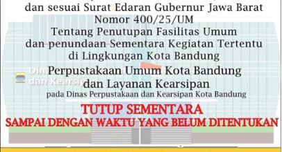 Perpanjangan Masa Tutup Perpustakaan Kota Bandung